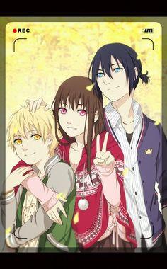 Yukine, Iki Hiyori and Yato <3