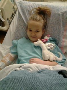 Miss Lexi Lynn after her appendectomy on 1/14/14