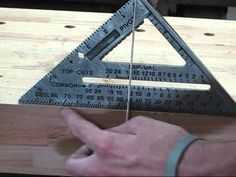 For construction purposes, in lieu of a framing square tool to make a corner square, use your tape measure and a bit of geometry to achieve a perfectly square corner every time.