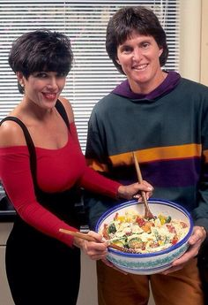 """Then: Former Olympian Bruce Jenner and mother-of-four Kris Kardashian met on a blind date in 1990 where he quickly won her heart with his dinner order. """"I thought, 'I love this guy, he has meatloaf and mashies,'"""" Kris told the … Continue reading →"""
