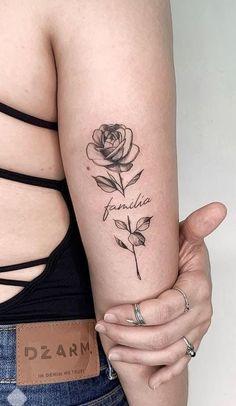 Flower tattoos: Check out 50 ideas that will impress you - I love tattoos . - tatoo tatoo feminina feminina - flower tattoos, # impress flower Tattoos: Check out 50 ideas that will impress me in . Mom Tattoos, Tattoo Girls, Sexy Tattoos, Cute Tattoos, Beautiful Tattoos, Body Art Tattoos, Small Tattoos, Tattoos For Guys, Sleeve Tattoos