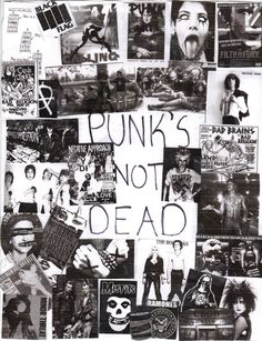 Punk zine flyer I had to make for a Sociology Class