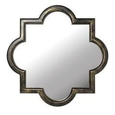 "Vintage inspired mirror glass/mdf wood wipe clean 17""x17"" $39.99"