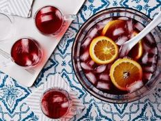 Holiday Party Punch : Looking for a quick drink solution for a crowd? Sanda's punch uses sparkling cider, cranberry juice and ginger ale so you can pull a cocktail together in a pinch.