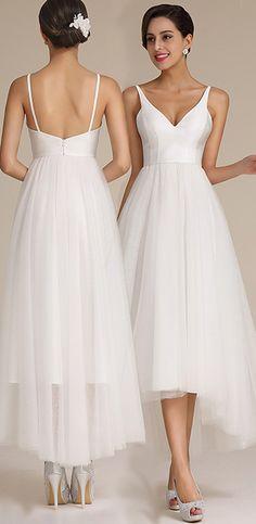 eDressit Straped Asymmetric Wedding Dress
