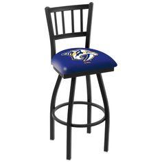 "Nashville Predators 30"" Wrinkle Swivel Bar Stool with Jailhouse Style Back - $199.00"