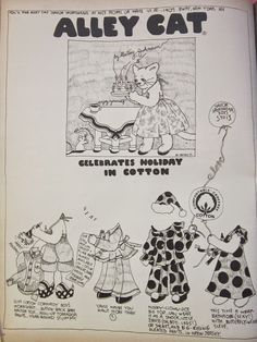 gold country girls: Alley Cat By Betsey Johnson , Circa 1972 60s And 70s Fashion, Vintage Fashion, Betsey Johnson, Newspaper Paper, Vintage Newspaper, Alley Cat, Seventeen Magazine, Doll Painting, Paper Toys
