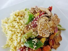 Stirred Not Fried: Sesame Vegetables with Celeriac Garlic Rice (Raw)