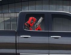 07955b6c Details about Vinyl Car Window Full Color Graphics Decal Deadpool with Gun  Sticker