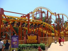 Mind Eraser - Six Flags America Maryland. I have ridden this coaster too many times to count. This park was Adventure Island before it became Six Flags and was a regular hang out for me, my sister and friends. Never got tired of riding this one either! It has been on the list of best roller coasters!