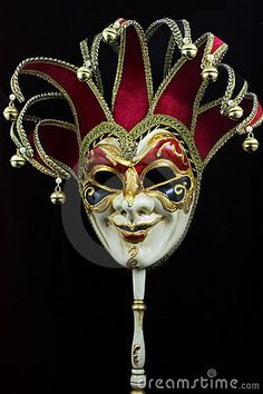 On black background , Informations About Venetian carnival mask stock image. Image of fantasy, object - 1174807 Pin You ca Diy Carnival, Carnival Rides, Carnival Decorations, Venetian Masquerade Masks, Venetian Carnival Masks, Jester Mask, Vintage Circus Posters, Oni Mask, Scary Mask