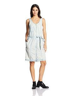 686c0bd00c VERO MODA Women s Cotton Shift Dress (1743885003 Light Blue Denim S