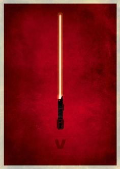 Star Wars: Episode V - The Empire Strikes Back (1980) ~ Minimal Movie Poster by Rameez Quadri ~ Minimalist Lightsabers Series #amusementphile