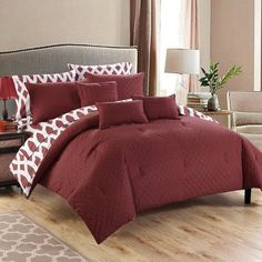 Stein Bed in a Bag Comforter Set by Chic Home Marsala - CS2147-HE