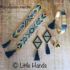 off loom beading Loom Bracelet Patterns, Bead Loom Patterns, Friendship Bracelet Patterns, Jewelry Patterns, Beading Patterns, Beading Ideas, Seed Bead Jewelry, Bead Jewellery, Beaded Jewelry