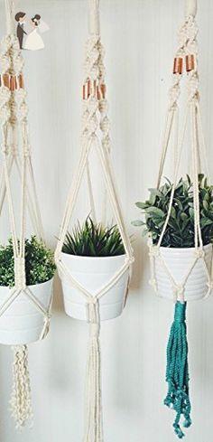 "Cotton/Copper Macrame Plant Hanger | 43"" - Greenery weddings (*Amazon Partner-Link)"