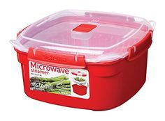 Sistema Microwave Cookware Medium Steamer 835 Ounce 104 Cup Random Colors ** Click image to review more details.