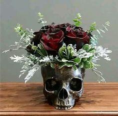 Skull floral design