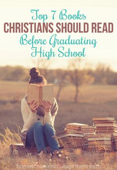 As I graduate high school this year, I look back to some of my favorite books, both fiction and non-fiction. Here's a list of my life-changing must-reads that every Christian teen should read before graduating high school! High School Reading, Homeschool High School, Homeschooling, High School Years, Adolescents, Christian School, Books For Teens, Book Lists, Teaching Kids