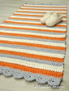 Virkattu matto, käsityöidea, Tuulia+design