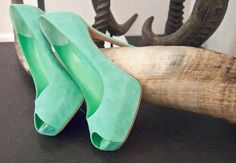 Love these Mint Green heels <3