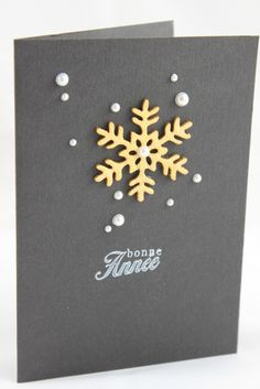 Snowflake and glued gems idea