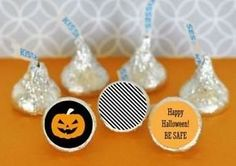 108 Personalized Pumpkin Halloween Party Hershey Kiss Stickers Labels Q21237 *** You can find more details by visiting the image link.
