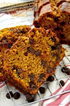 This buttery, soft Chocolate Chip Pumpkin Bread is so easy, foolproof and delicious! Perfectly spiced, ultra moist and a cinch to whip together, it tastes like fall!