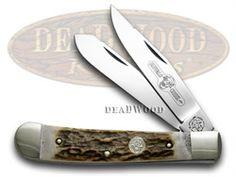 German BUFFALO CREEK Trapper - Genuine Deer Stag Pocket Knife - BUF254DS | 254DS -