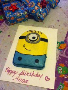 Anna's Despicable Me Minion cake! :)