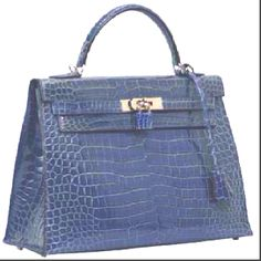 #Hermes #Kelly 32cm #Sellier deep blue croc
