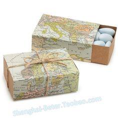 Autour de la carte du monde faveur boîte/w naturel-ficelle   http://fr.aliexpress.com/store/product/120pcs-Free-Shipping-BeterWedding-Around-the-World-Map-Candy-Box-wedding-Decoration-BETER-TH031-A0/1686386_32280008960.html