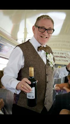 Father of the bride rocking the route master bus service 😂