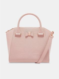 c0d7d4d3666 Ted Baker Cala Bow Detail Small Leather Tote Bag - Light Pink