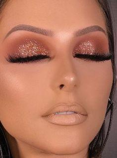 Hooded Eye Makeup – Great Make Up Ideas Day Eye Makeup, Hd Makeup, Hooded Eye Makeup, Glam Makeup, Makeup Inspo, Eyeshadow Makeup, Bridal Makeup, Wedding Makeup, Makeup Cosmetics