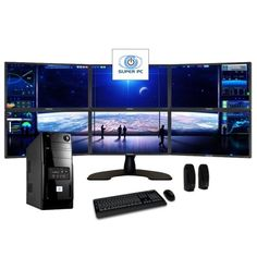 SUPER PC | Six Monitor Computer and Hexi LED Display Array | Complete Six Core i7 System