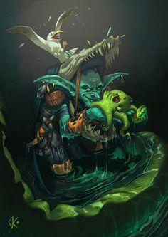 Marsh Rogue Goblin, Daniel Caballero on ArtStation at https://www.artstation.com/artwork/RQLVm