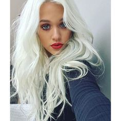 Lottie Tomlinson's Lavender-Platinum Hair Is the Dreamiest Thing... ❤ liked on Polyvore featuring hair