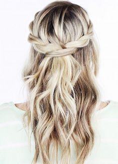 #Neueste Frisuren 2018 5 Minuten Frisuren für schulterlanges Haar #5 #Minuten #Frisuren #für #schulterlanges #Haar