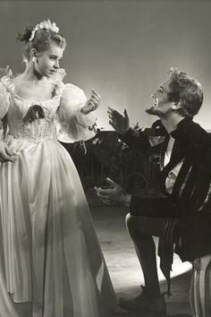 Prunella Scales - Fawlty Towers star Prunella Scales played Nerissa in the 1956 production of The Merchant of Venice, directed by Margaret Webster. Here, Nerissa yells at her husband Gratiano for giving away his wedding ring.