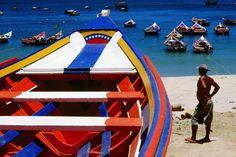 Boat with Venezuelan Flag colors .