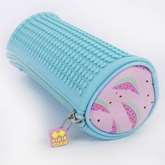 PIXIE CREW Rounded Pencil Case MELONS/TURQUOISE