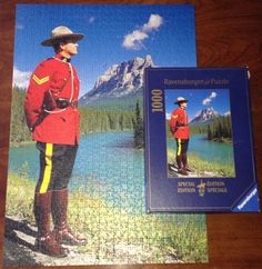 Ravensburger RCMP Jigsaw Puzzle - The image features a Royal Canadian Mounted Police offer in Banff National Park, Alberta, Canada | eBay
