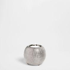 Dark grey ceramic tealight holder