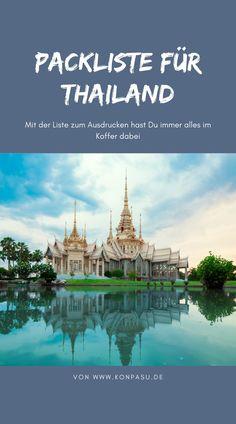 Planst du eine Reise nach Thailand? Hier ist unsere Packliste für deine perfekte Reise nach Thailand.