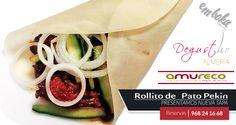 ¿sabías qué este fin de semana nuestros amigos de Amureco presentan en Deghusto Almería nuestra nueva tapa : Rollito de Pato Pekín ? ¿quieres probarla tú también? Reservas 968241668