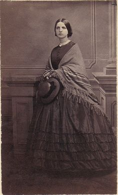 :::::::: Antique Photograph ::::::::: Woman from Boston. ca. 1860