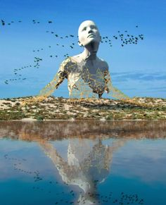 Chad Knight is a artist creating mind-bending digital art. His unique approach to digital sculptures fascinates people all over the internet. I think I became an artist at conception, Chad told the Klassik Magazine. Unusual Art, Unique Art, Art Sculpture, Wire Sculptures, Abstract Sculpture, Bronze Sculpture, Louise Bourgeois, No Photoshop, 3d Artist