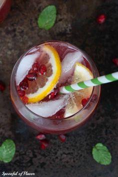 Pomegranate Lemonade Spritzer - Spoonful of Flavor