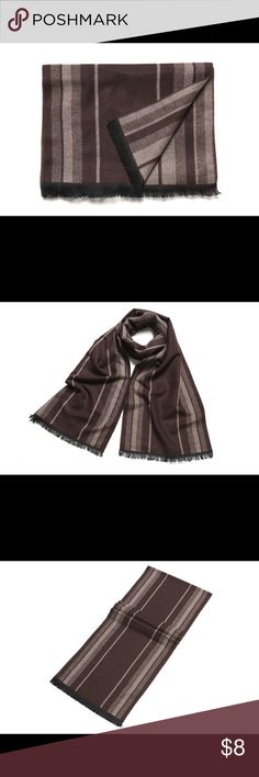 Men's Scarf Made of 38% Cotton and 62% Polyester Accessories Scarves